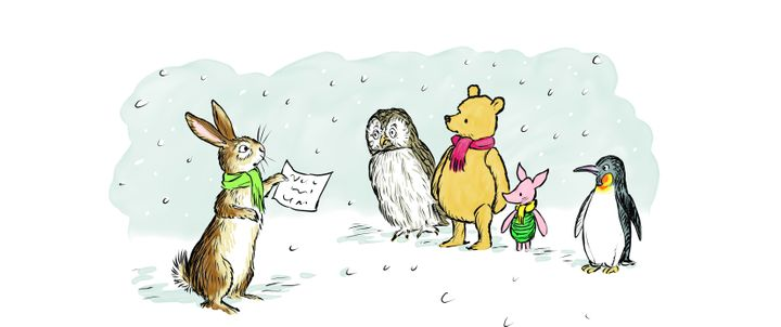 Winnie-the-Pooh &amp; Co, from&nbsp;<i>The Best Bear in All the World</i>, illustrated by Mark Burgess.