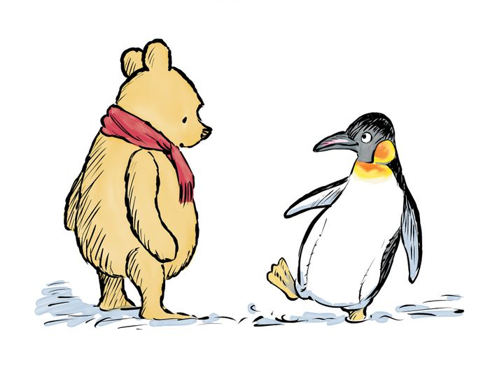 Winnie &amp; Penguin, from <i>The Best Bear in All the World,&nbsp;</i>illustrated by Mark Burgess.