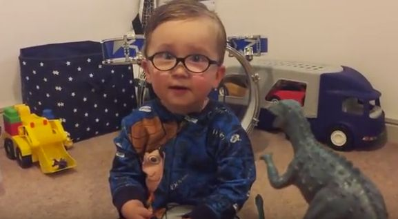 People Are Going Nuts Over This Adorable 2-Year-Old Dinosaur