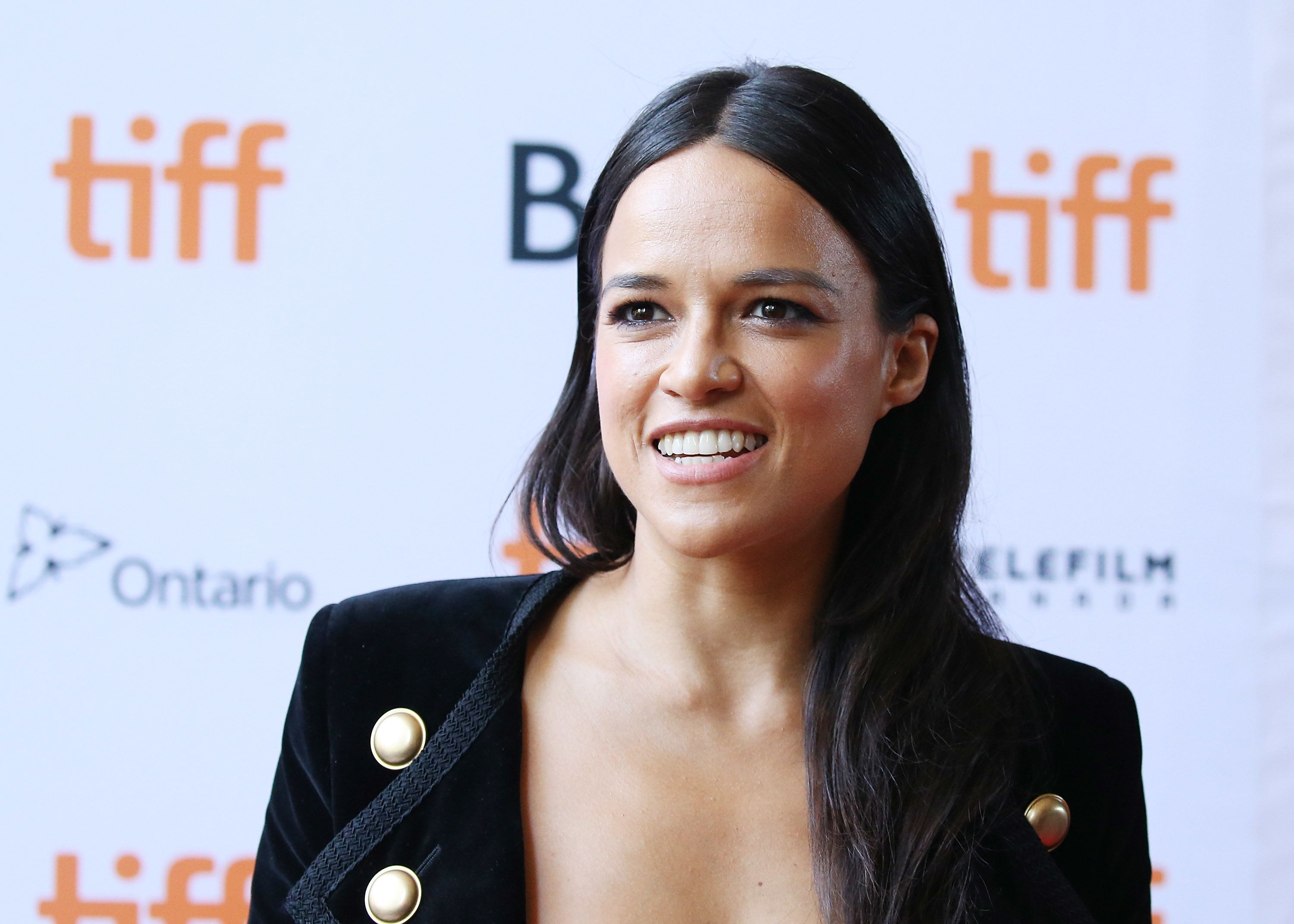 TORONTO, ON - SEPTEMBER 14:  Michelle Rodriguez arrives at the 2016 Toronto International Film Festival - '(re) ASSIGNMENT' premiere held at Ryerson Theatre on September 14, 2016 in Toronto, Canada.  (Photo by Michael Tran/Getty Images)