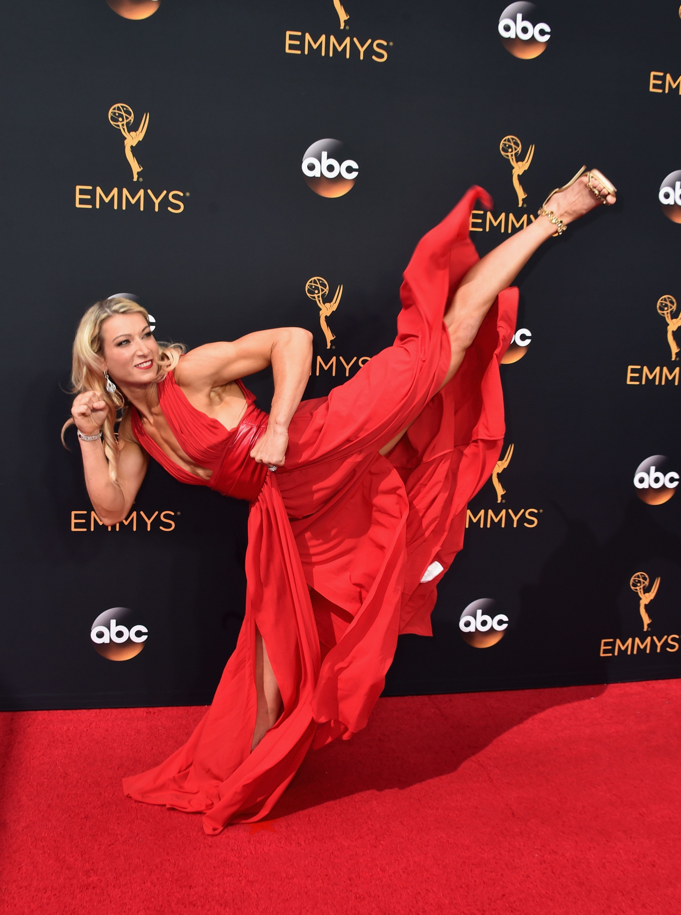 Stuntwoman Jessie Graff on 68th Annual Primetime Emmy Awards
