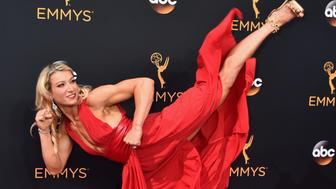 LOS ANGELES, CA - SEPTEMBER 18:  TV personality Jessie Graff attends the 68th Annual Primetime Emmy Awards at Microsoft Theater on September 18, 2016 in Los Angeles, California.  (Photo by Alberto E. Rodriguez/Getty Images)