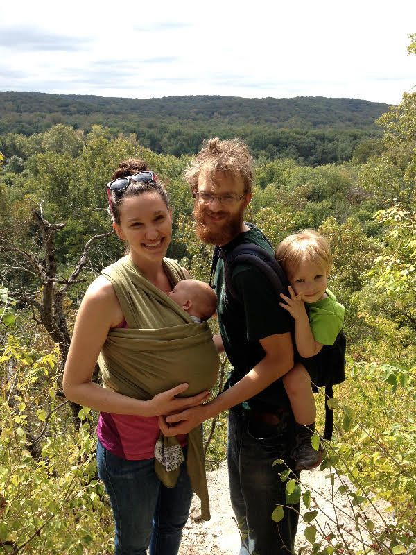 EmilyHedlund with her husband, Joshua, and their two sons,Malachi and Shiloh.