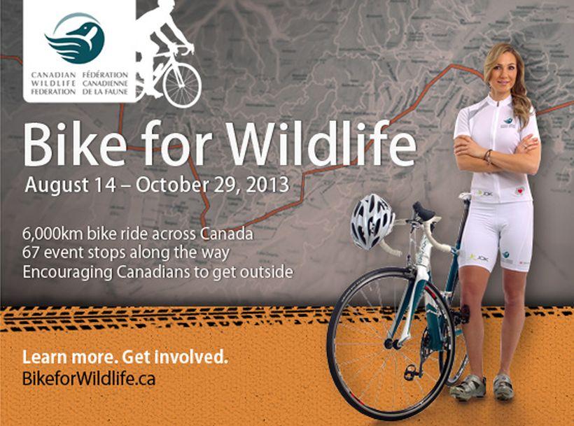 Angella Goran Promo Spot for BikeforWildlife.ca