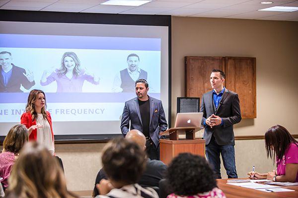 Jen DeVore Richter (l), Manny Torres (c), and Kenny Harper (r) of Rock My Image