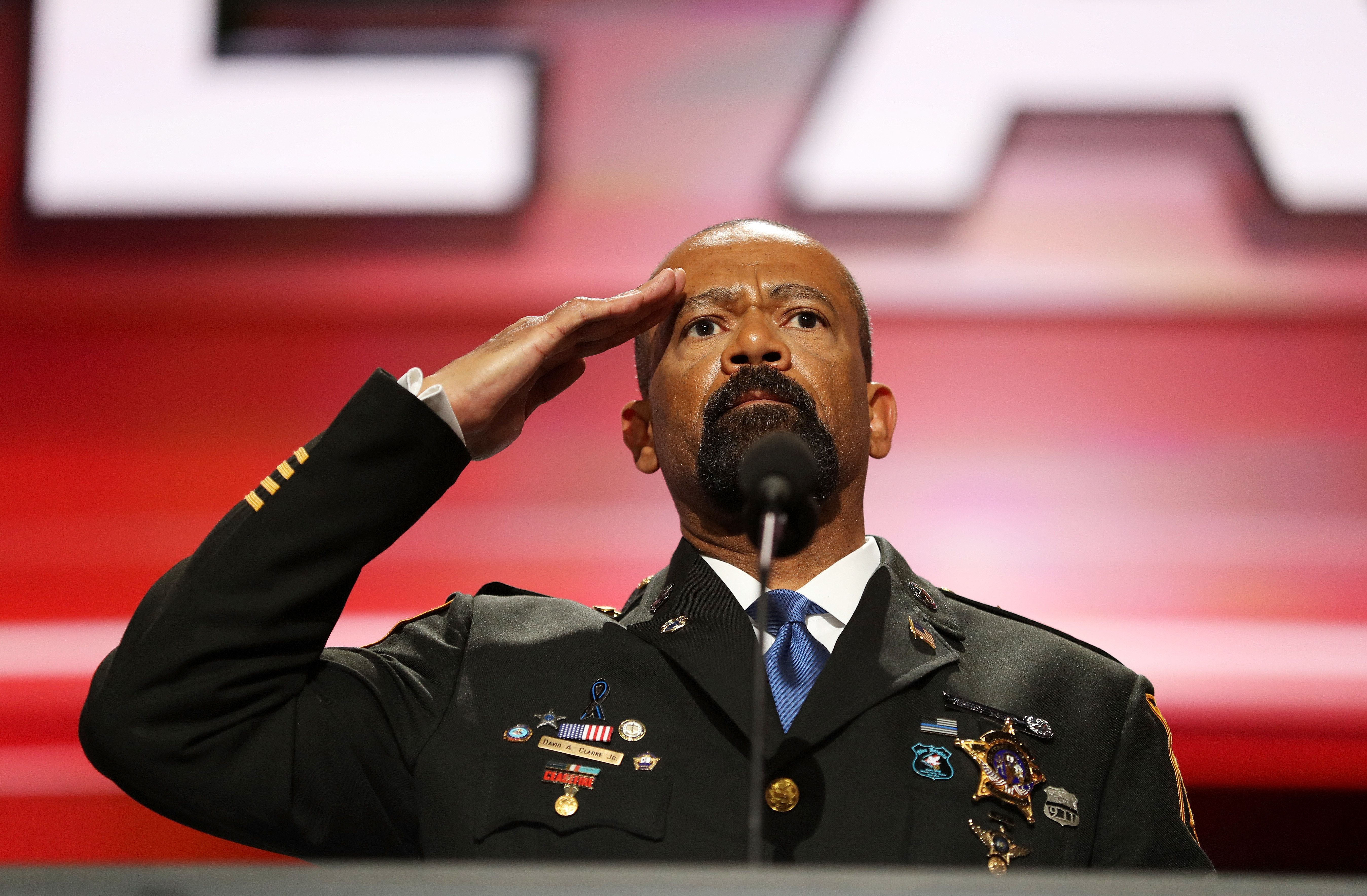 Milwaukee County Sheriff David Clarke spoke at the Republican convention in