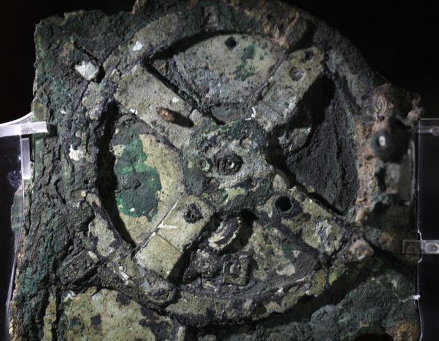 The Antikythera mechanism, 205 BC. Found in the collection of National Archaeological Museum,