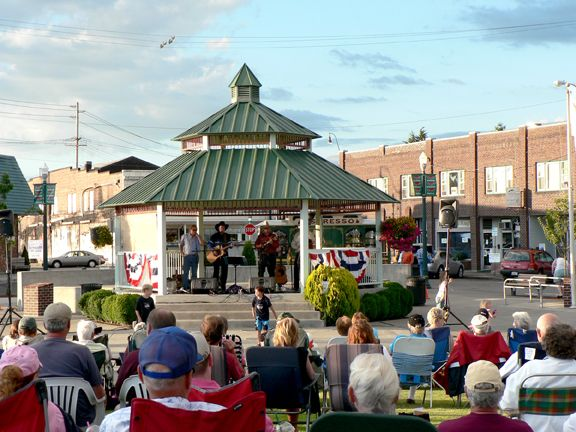 Music Off Main is a free summer concert series at Heritage Park in downtown Sumner