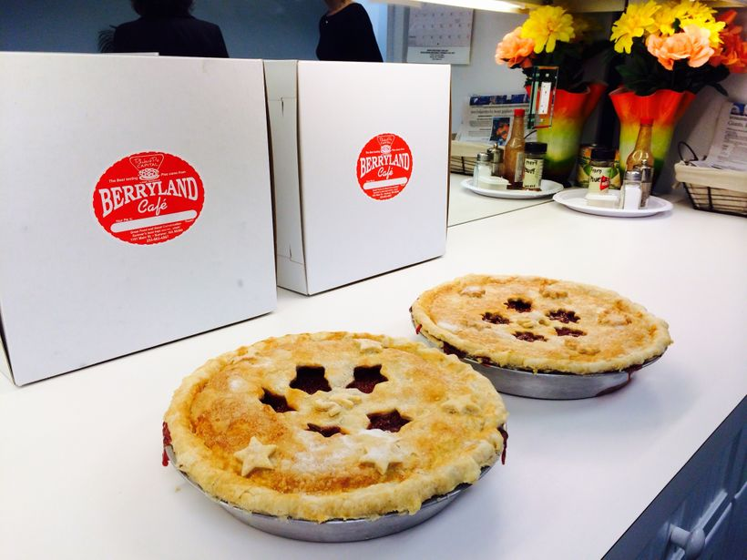 Rhubarb pie from the Berryland Cafe is how to experience the pinnacle of the piesmithing craft