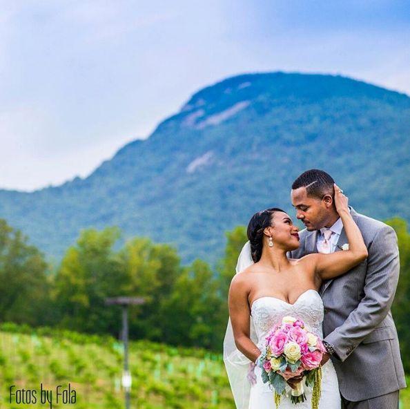 """Denise and Ken enjoying this beautiful vineyard mountain backdrop."" --<i>Afolabi Sogunro</i>"
