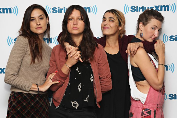 Theresa Wayman, Stella Mozgawa, Jenny Lee Lindberg and Emily Kokal of Warpaint on Aug. 5 in New York.