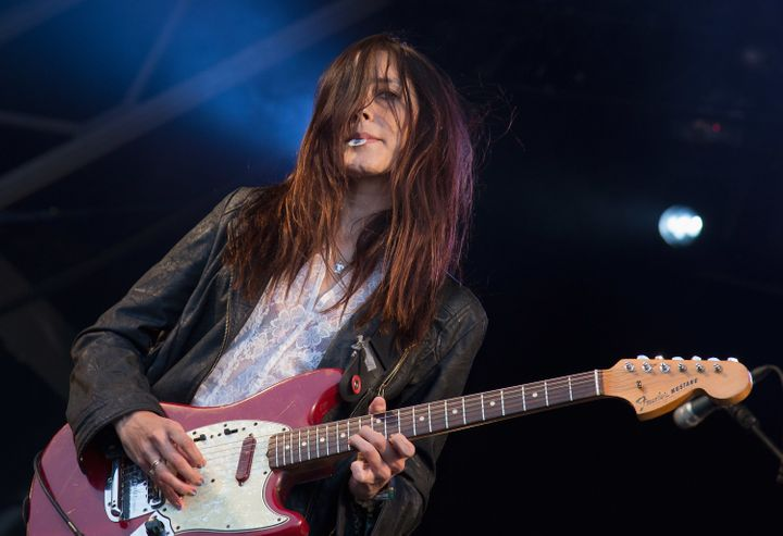 Theresa Wayman of Warpaint performs inHyde Park on July 1 in London.