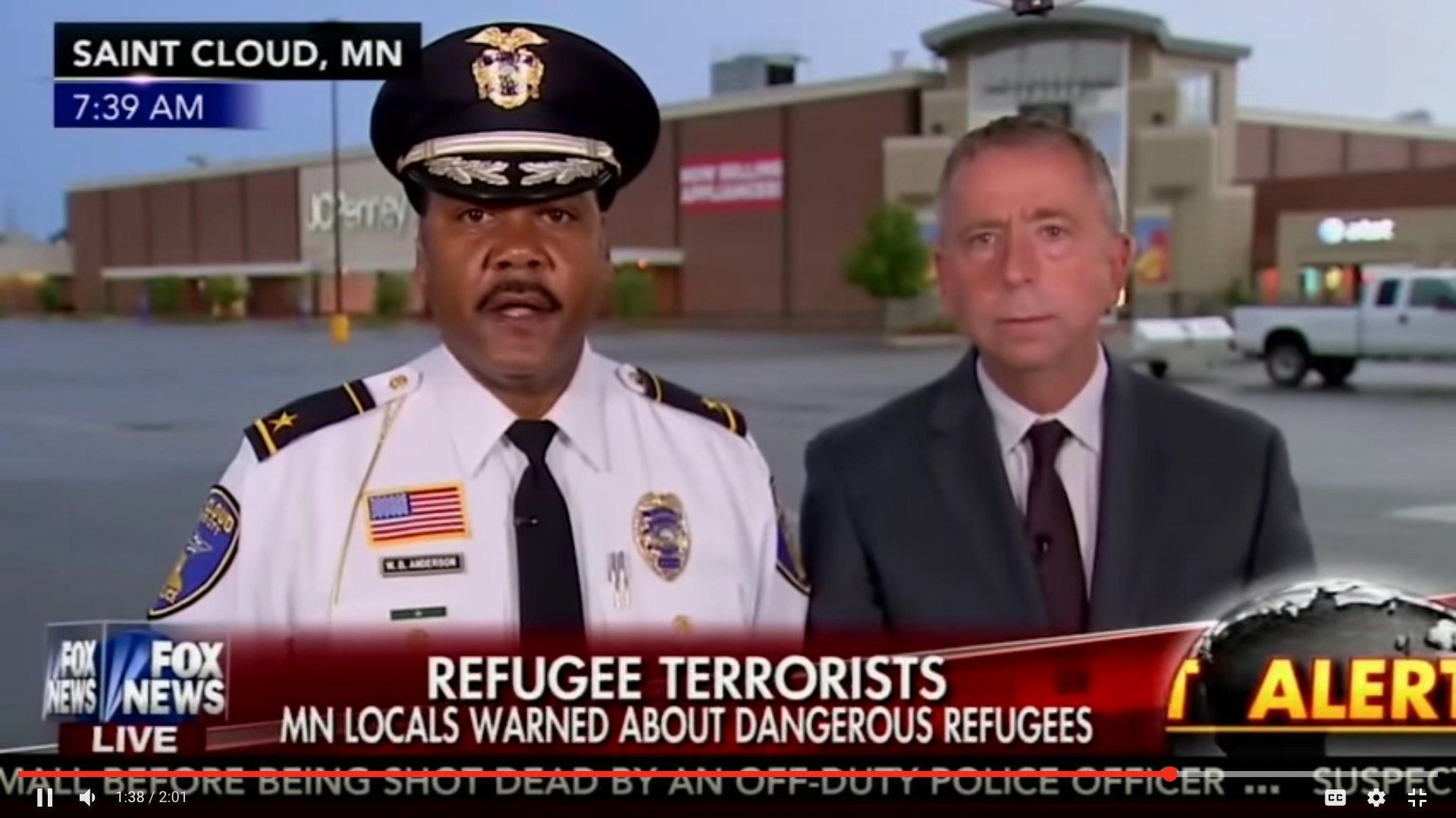 Police Chief Shuts Down Fox News Hosts On Live