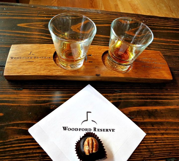 <p>Bourbon tasting at the Woodford Reserve Distillery always includes a tour and a bourbon ball. The smoky, sweet taste of autumn.</p>