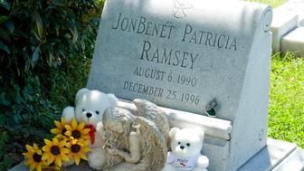 Headstone of JonBenet Ramsey. (Photo by Douglas Keister/Corbis via Getty Images)