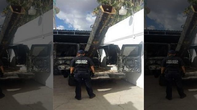 Police in Mexico have revealed what they believed to be a drugshooting bazooka along the US border