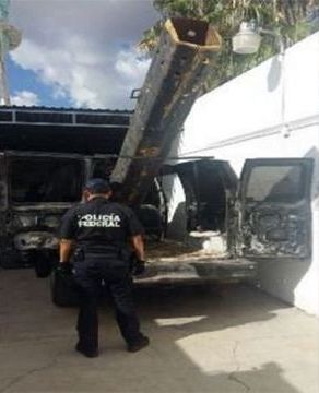 The device police in Mexico believe to be a drug-shooting bazooka.