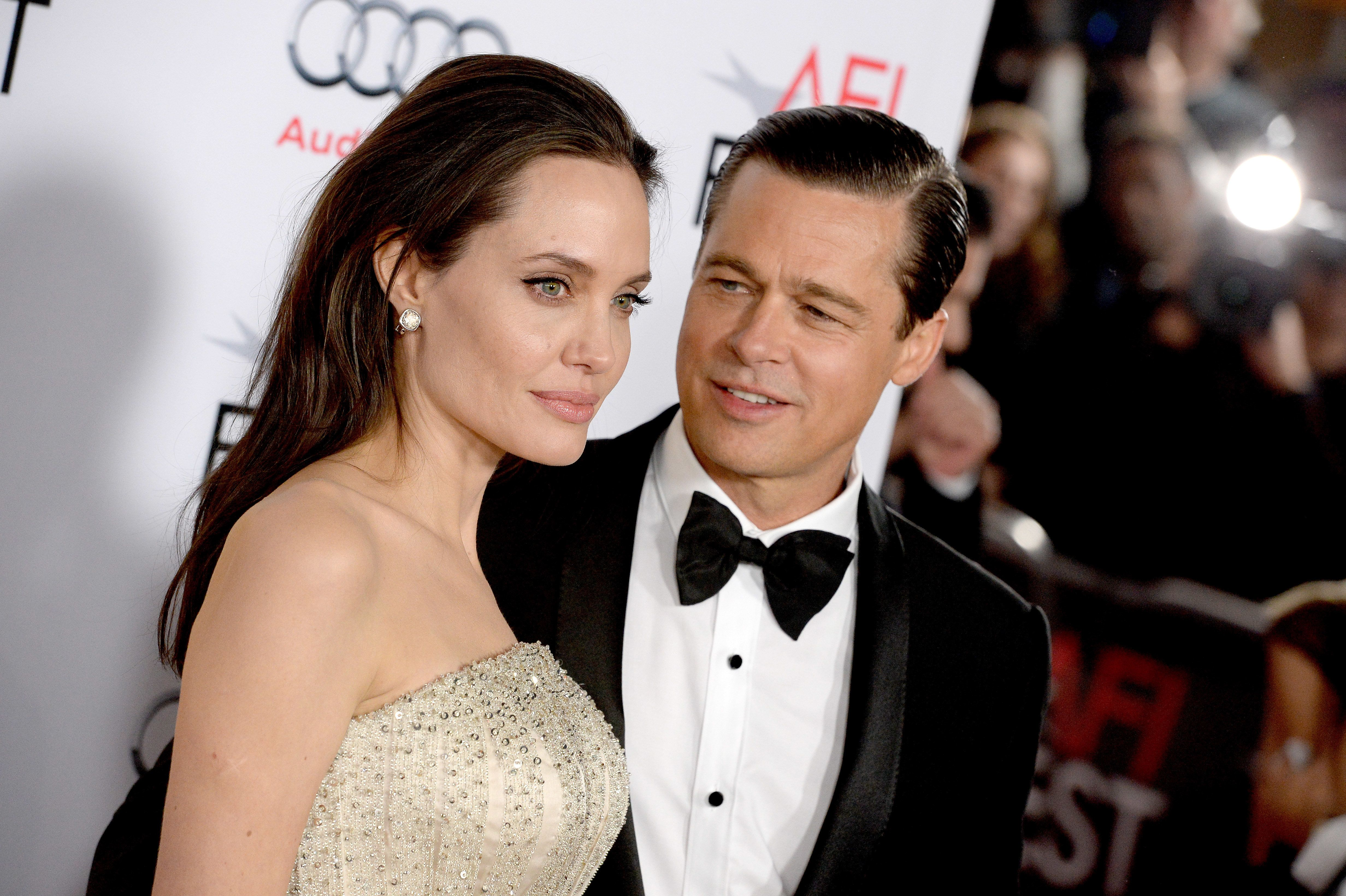 Angelina Jolie Pitt and Brad Pitt attend the AFI FEST 2015 opening Night Gala Premiere of Universal Pictures By The Sea at the TCL Chinese Theatre on November 15, 2015 in Los Angeles, CA, USA.
