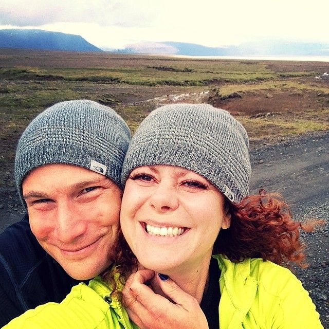 Selfie-moment on a family trip to Iceland - August 2014