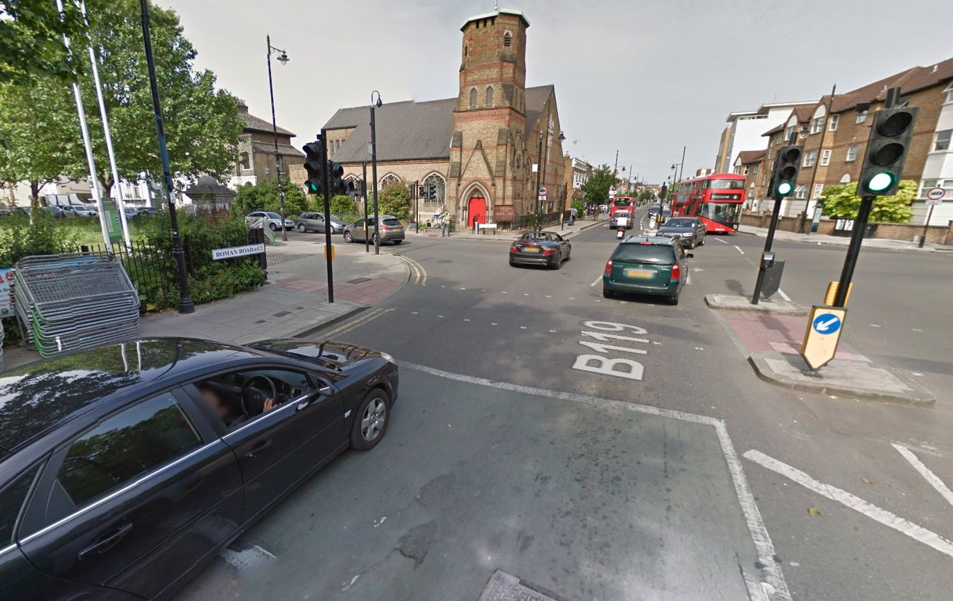 Roman Road in East London, where the altercation between the cycling at the cabbie took place (file