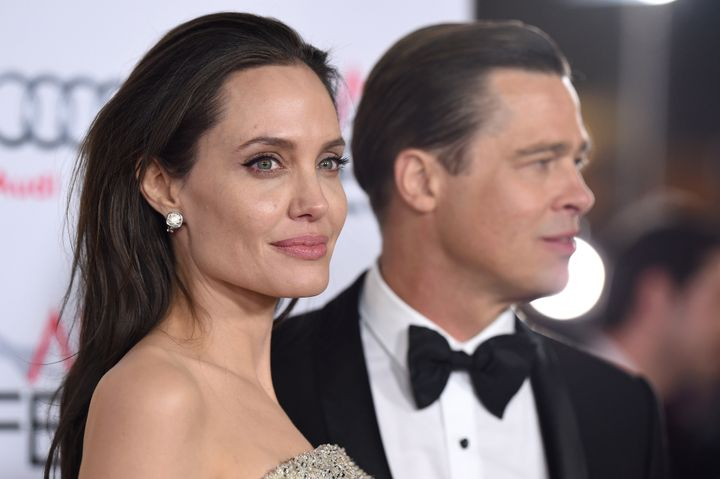 "Angelina Jolie and Brad Pitt at the premiere of ""By the Sea"" in November 2015."