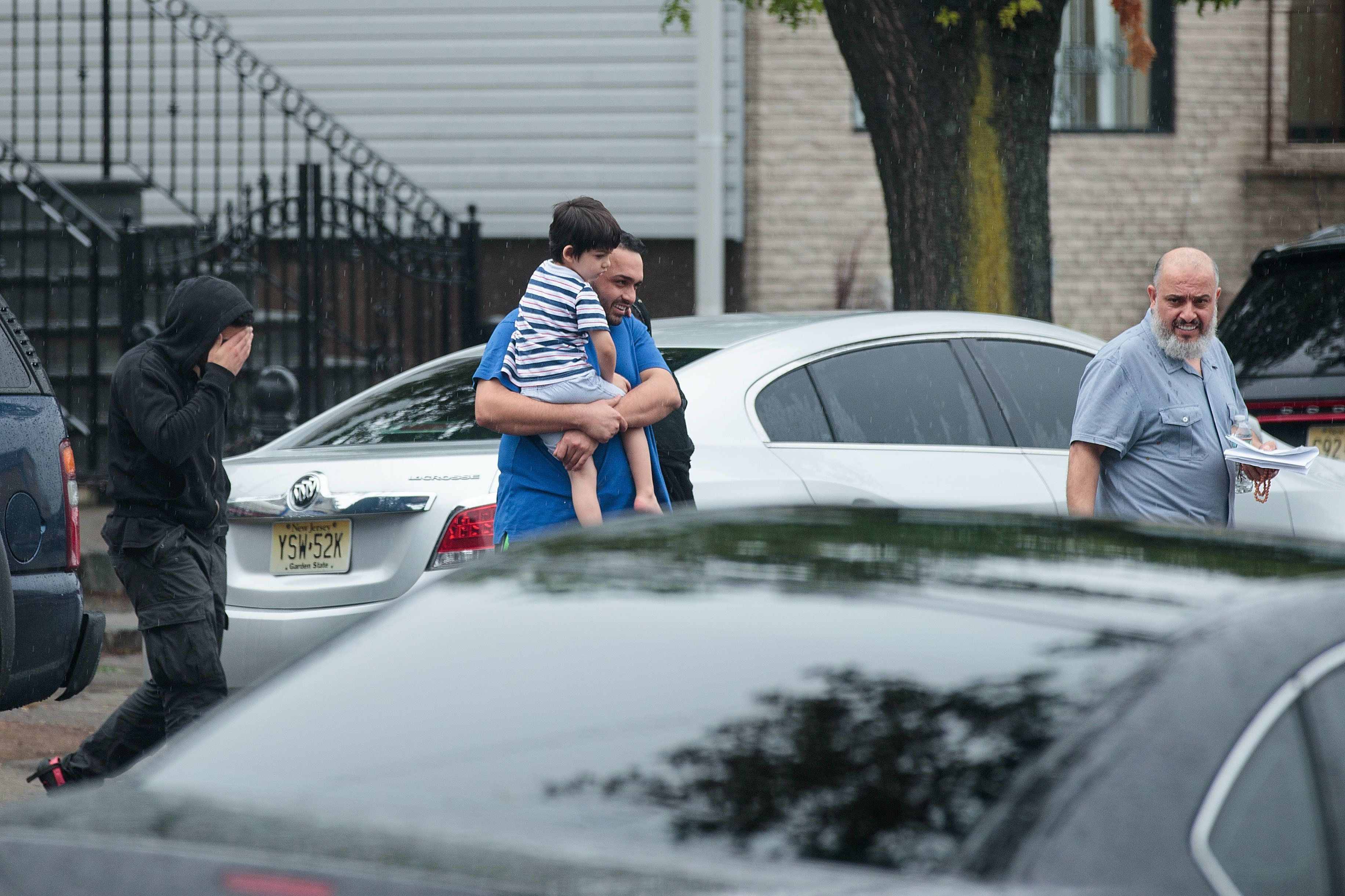 Mohammad Rahami leaves the family's fried chicken restaurant in Elizabeth, New Jersey, Monday. Rahami...