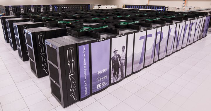 Trinity is a 42-petaflop supercomputer that resides at Los Alamos National Laboratory in New Mexico. It is one of the fastest
