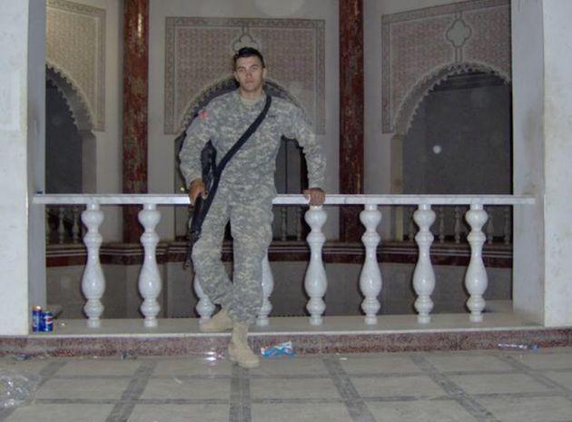 Abbas inside a Baghdad palace that once belonged to Saddam