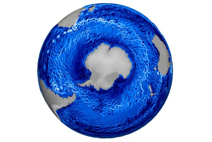 Trinity will help improve visualizations such as this one from Los Alamos' MPAS-Ocean model, which shows ocean currents and e