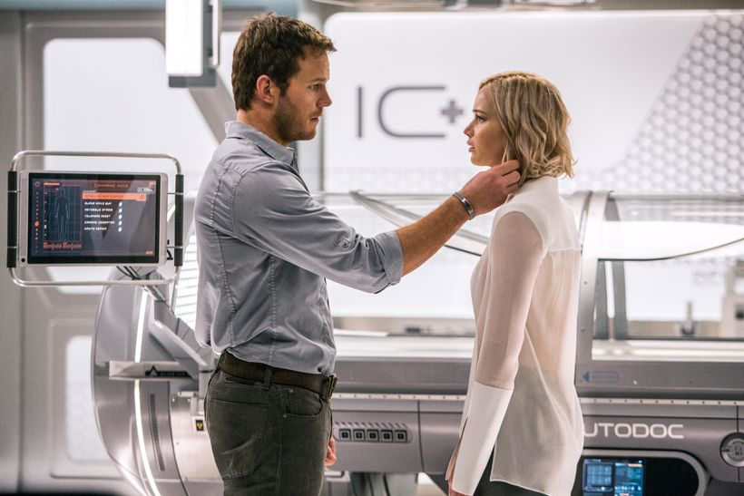 In the Infirmary, Jim (CHRIS PRATT) and Aurora (JENNIFER LAWRENCE) realize they have limited options in Columbia Pictures' PA