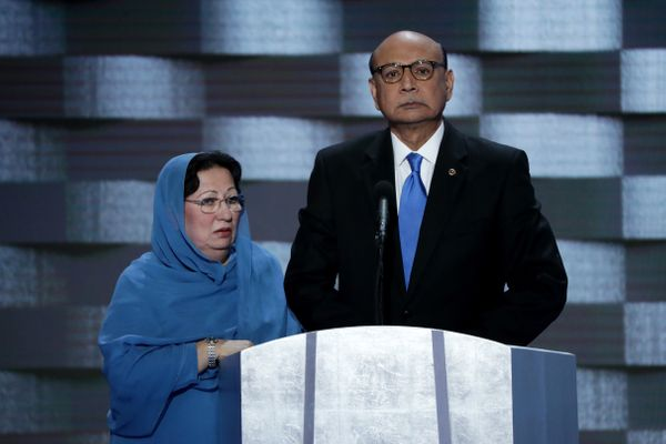 After Khizr Khan, the father of a soldier who died in Iraq, spoke out against Trump at the Democratic convention, Trump