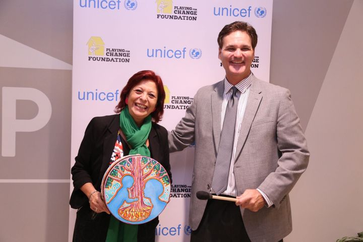 Marita Perceval, UNICEF LAC Regional Director with PFCF Executive Director, John A. McKenna at the United Nations 9-16-16