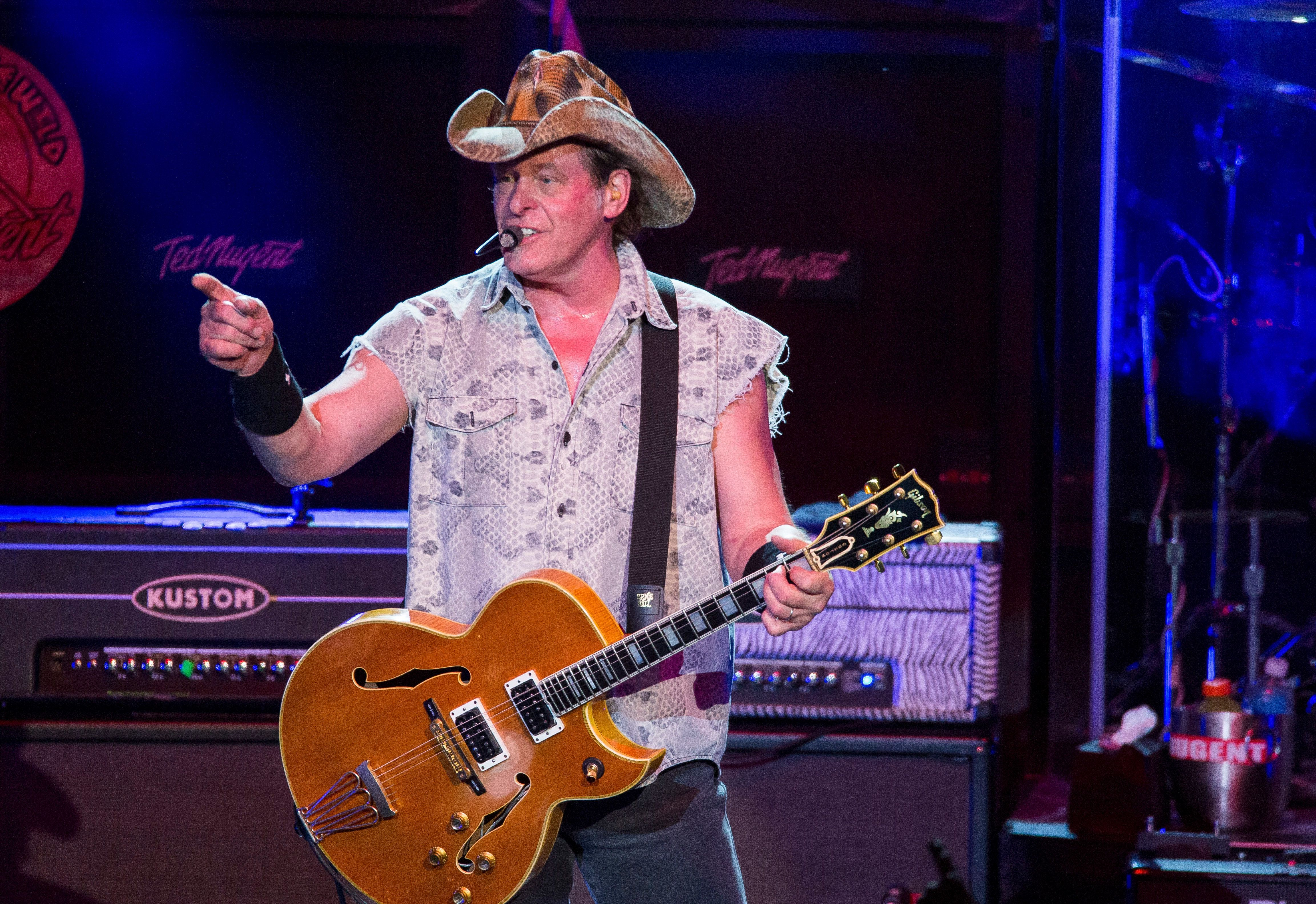 STERLING HEIGHTS, MI - AUGUST 26:  Ted Nugent performs in support of his Sonic Baptizm Tour 2016 at Freedom Hill Amphitheatre on August 26, 2016 in Sterling Heights, Michigan.  (Photo by Scott Legato/Getty Images)