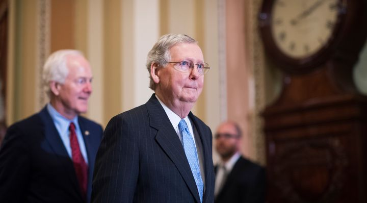 Senate Majority Leader Mitch McConnell led the chamber Tuesday to vote to consider a bill that senators have not ye