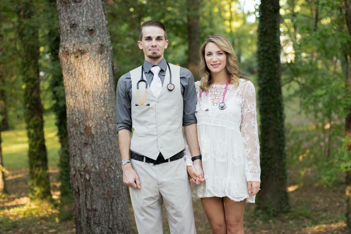 The pair embarked on the difficult journey to becoming nurses together.