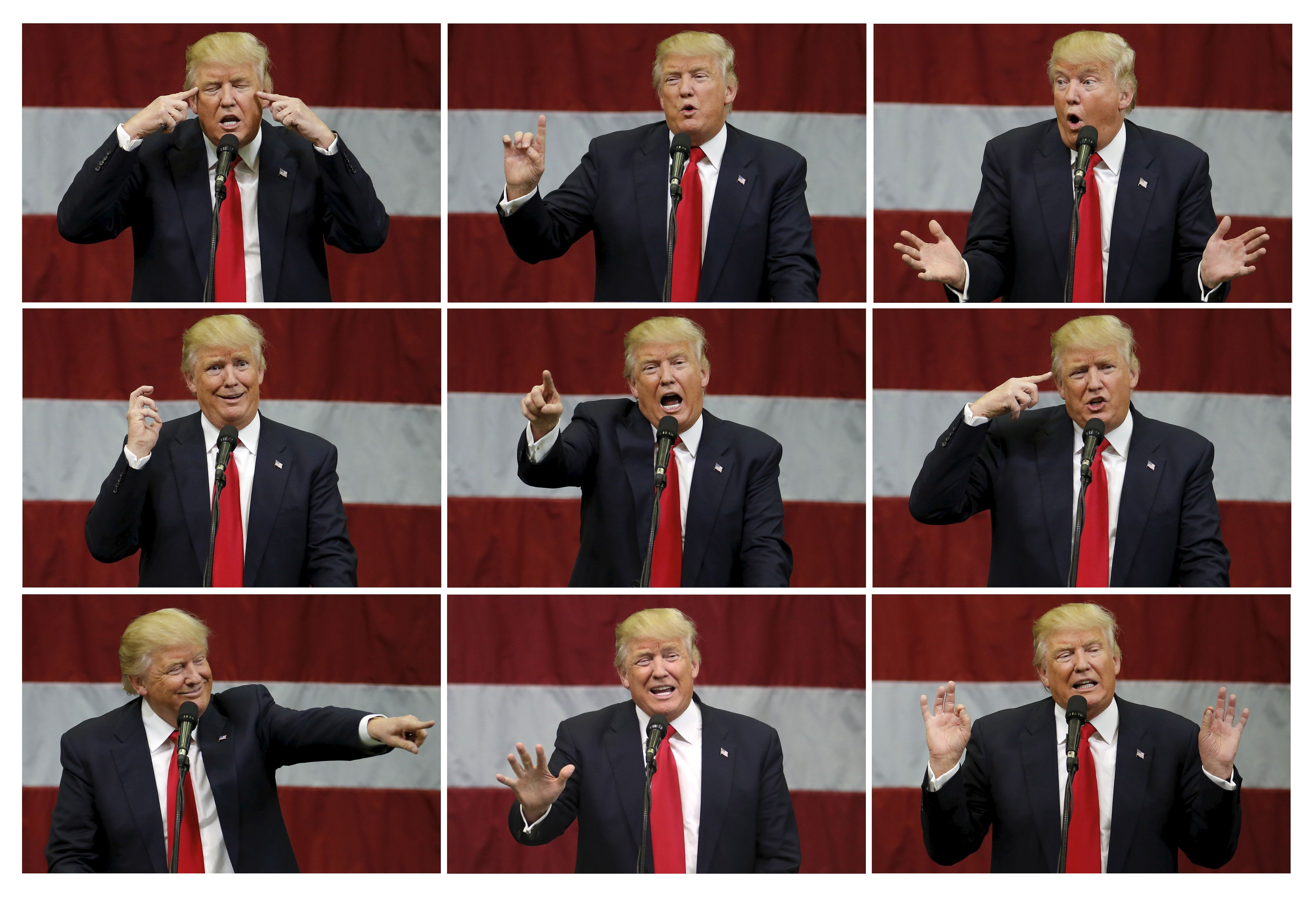 """Republican presidential nominee Donald Trump has claimed global warming is a hoax """"created by and..."""