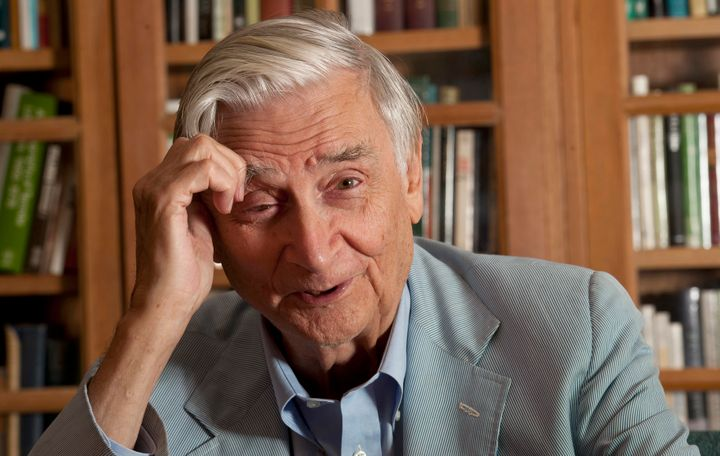Harvard University Professor E.O. Wilson in his office in Cambridge, Massachusetts.