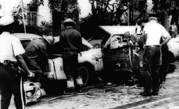 The wreckage from the blast.