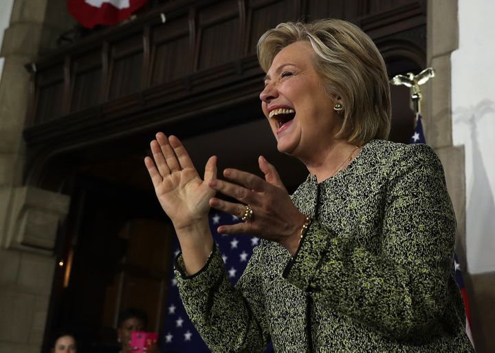 Democratic presidential candidate Hillary Clinton and her allies raised $59.5 million in August.