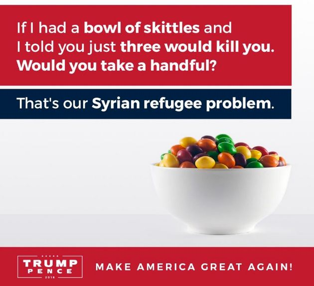 The original ad, tweeted out by Trump