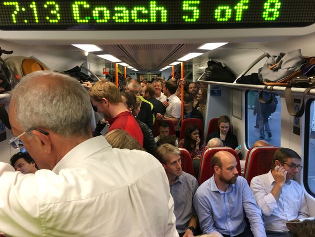 A crowded South West Trains