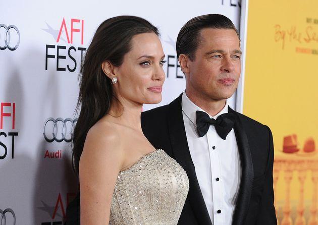 Angelina and Brad in November last