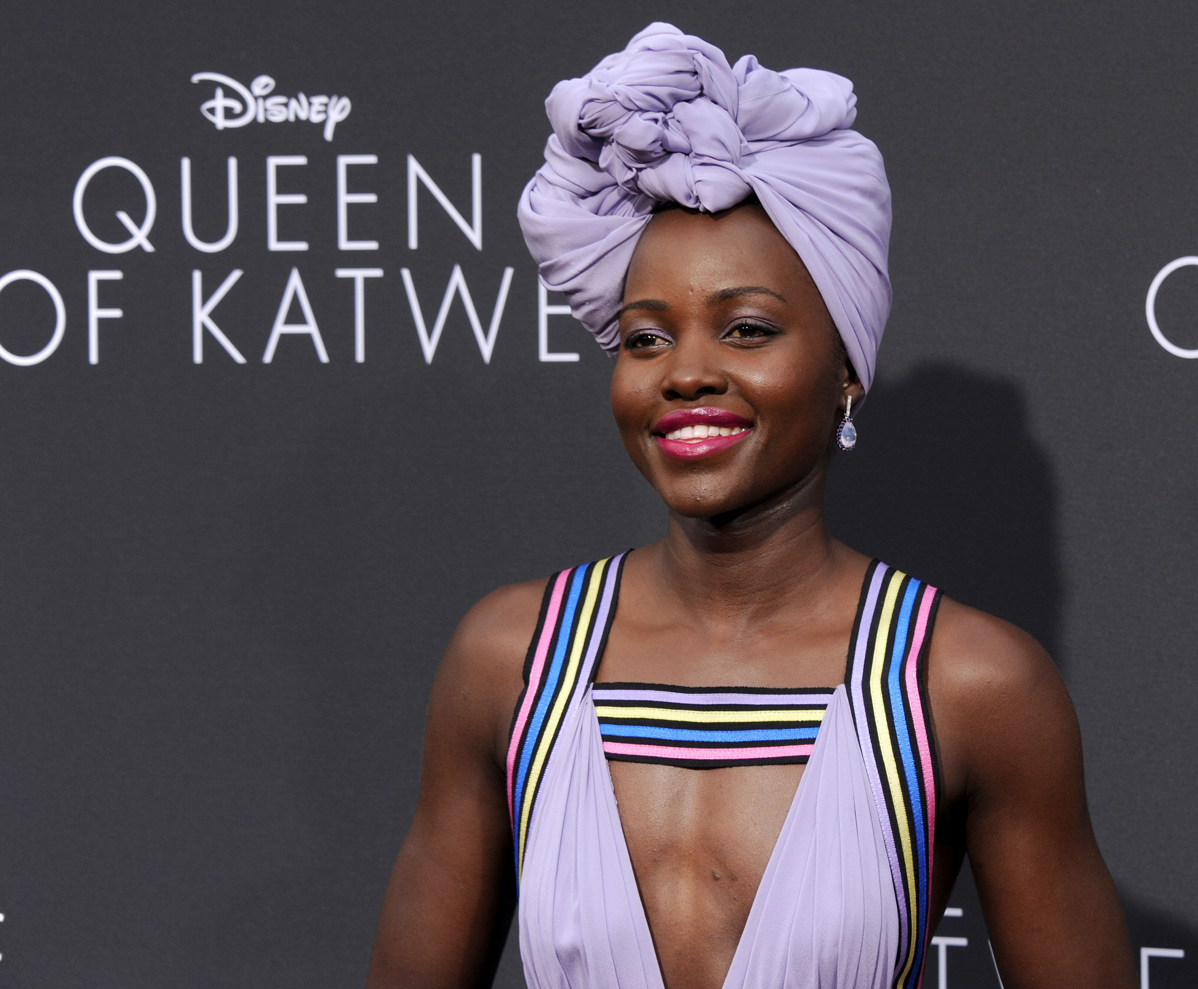 HOLLYWOOD, CA - SEPTEMBER 20:  Actress Lupita Nyong'o arrives at the premiere of Disney's 'Queen Of Katwe' at the El Capitan Theatre on September 20, 2016 in Hollywood, California.  (Photo by Gregg DeGuire/WireImage)