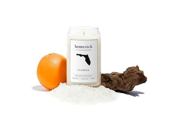 Floridians enjoy the smell of sea salt, orange and driftwood.
