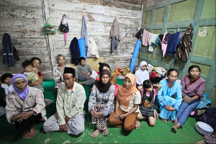 Ketep Village took in a number of individuals displaced by the Merapi volcano. More than 60 men, women and children stayed in
