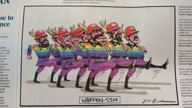 Bill Leak's cartoon in The