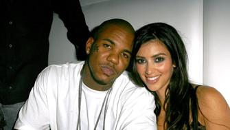 The Game and Kim Kardashian during Paris Hilton's CD Release Party at Privilege - Inside at Privilege in West Hollywood, California, United States. (Photo by J. Vespa/WireImage)