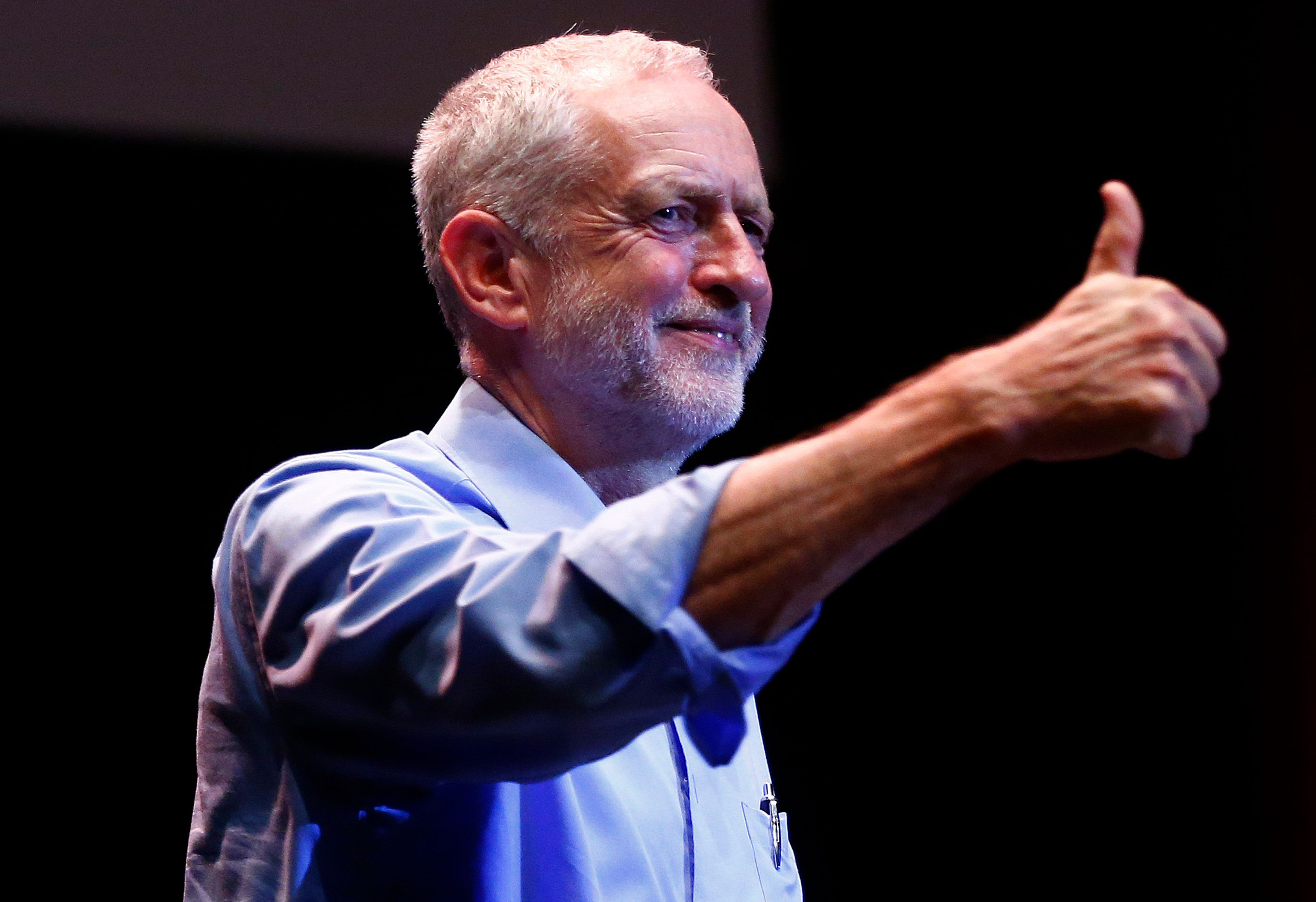 Thumbs up: UK oppositionleader Jeremy Corbynhas returned the Labour Party to its leftwing...