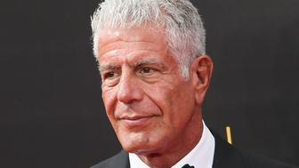 LOS ANGELES, CA - SEPTEMBER 11:  Chef Anthony Bourdain attends the 2016 Creative Arts Emmy Awards Day 2 at the Microsoft Theater on September 11, 2016 in Los Angeles, California.  (Photo by David Livingston/Getty Images)