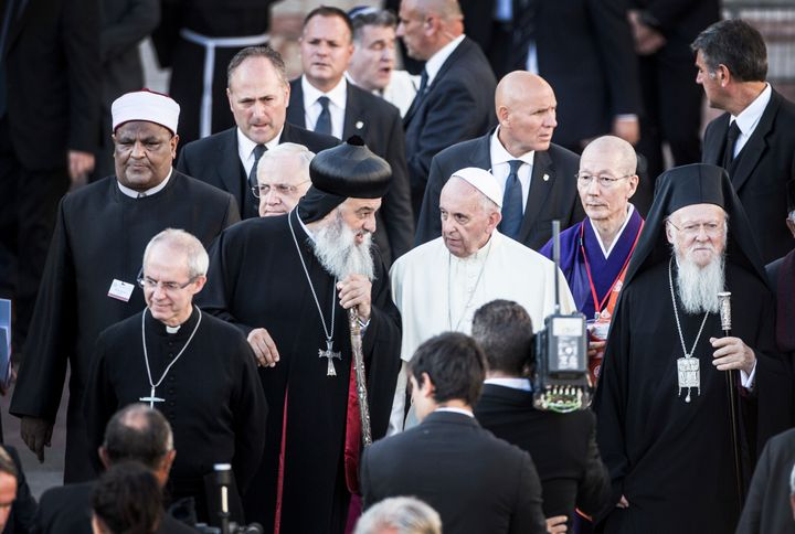 Pope Francis and leaders of different religions attend the 30th World Day of Prayer for Peace on Sept. 20 in Assisi, Italy.